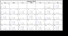 天文暦カレンダー